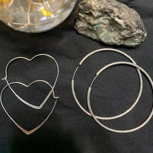 2 for 1 Silver HOOPS
